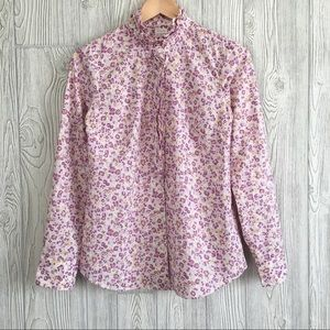 J. Crew Size XS Floral The Perfect Shirt